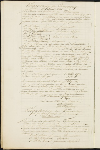 Teteringen - Notulen en bijlagen van de gemeenteraad 1834