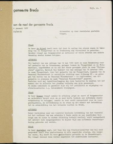 Breda - Bijlagen bij de notulen van de gemeenteraad 1967-01-01