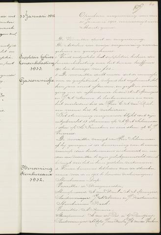Princenhage - Notulen van de gemeenteraad 1912