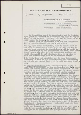 Teteringen - Notulen en bijlagen van de gemeenteraad 1965