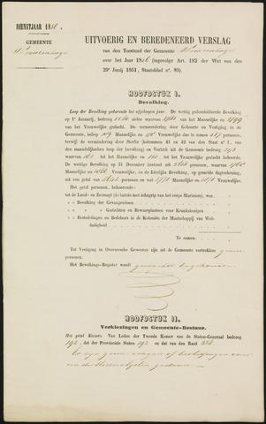 Princenhage - Verslagen van de toestand van de gemeente 1856