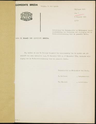Breda - Bijlagen bij de notulen van de gemeenteraad 1955