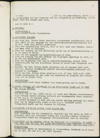 Nieuw-Ginneken - Notulen en bijlagen van de gemeenteraad 1949