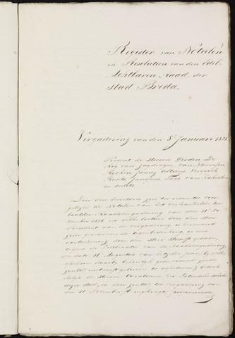 Breda - Notulen van de gemeenteraad 1821-01-01