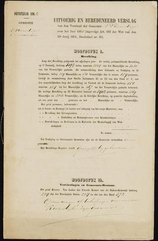 Princenhage - Verslagen van de toestand van de gemeente 1865-01-01