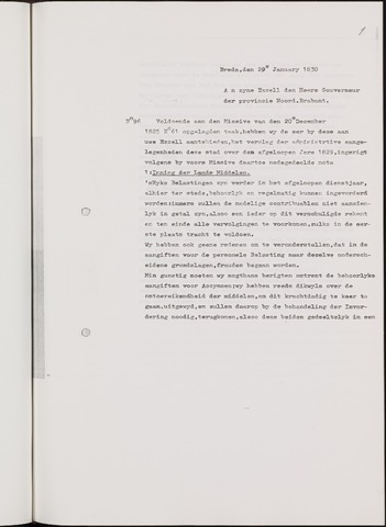 Breda - Verslagen van de toestand van de gemeente 1829-01-01