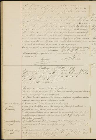 Ginneken en Bavel - Notulen van de gemeenteraad 1909-01-01