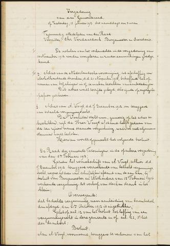 Teteringen - Notulen en bijlagen van de gemeenteraad 1913