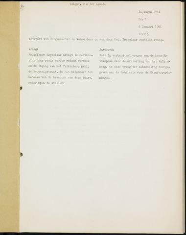 Breda - Bijlagen bij de notulen van de gemeenteraad 1954-01-01