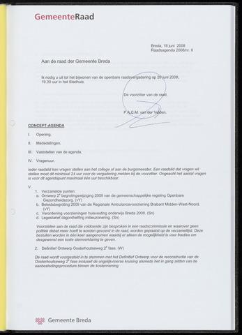 Breda - Bijlagen bij de notulen van de gemeenteraad 2008-06-26