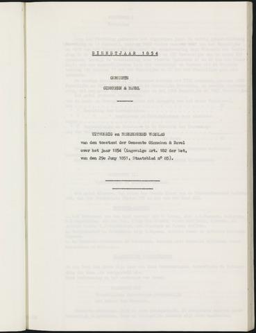 Ginneken en Bavel - Verslagen van de toestand van de gemeente 1854