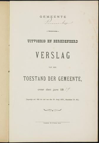 Princenhage - Verslagen van de toestand van de gemeente 1879-01-01