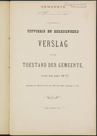 Princenhage - Verslagen van de toestand van de gemeente 1889-01-01