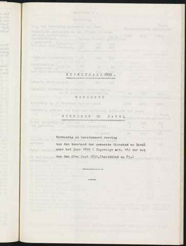 Ginneken en Bavel - Verslagen van de toestand van de gemeente 1899-01-01