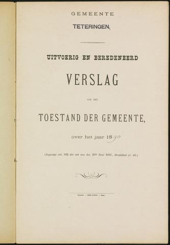 Teteringen - Verslagen van de toestand van de gemeente 1890