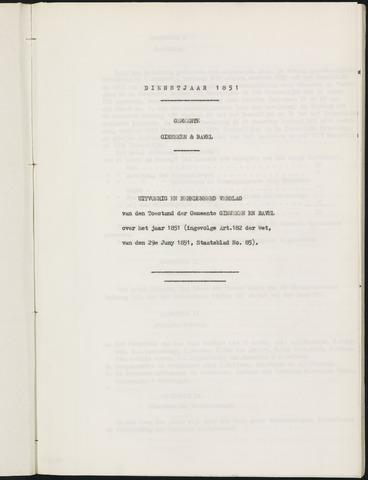 Ginneken en Bavel - Verslagen van de toestand van de gemeente 1851-01-01