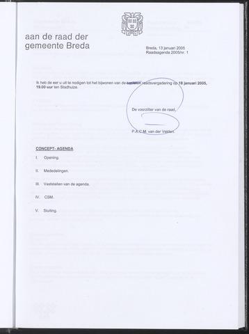 Breda - Bijlagen bij de notulen van de gemeenteraad 2005