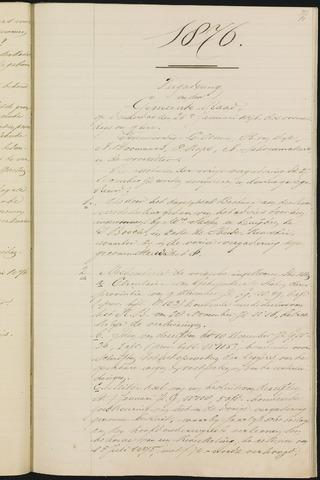 Teteringen - Notulen en bijlagen van de gemeenteraad 1876