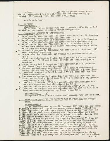 Nieuw-Ginneken - Notulen en bijlagen van de gemeenteraad 1951