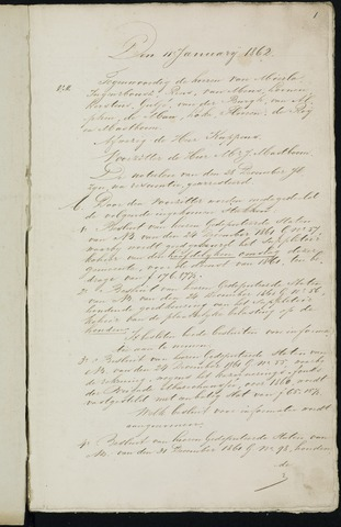 Breda - Notulen van de gemeenteraad 1862-01-01