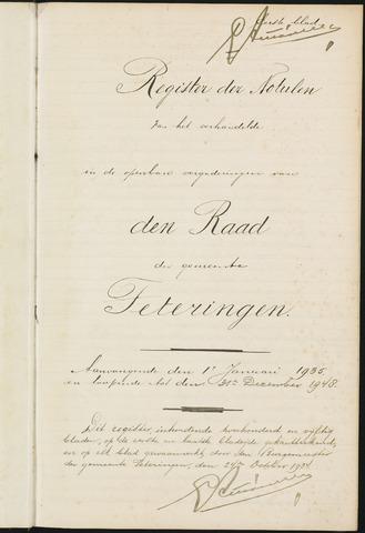 Teteringen - Notulen en bijlagen van de gemeenteraad 1935