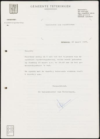 Teteringen - Notulen en bijlagen van de gemeenteraad 1975-03-25