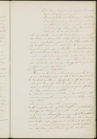Princenhage - Notulen van de gemeenteraad 1885-01-01