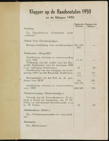 Breda - Indexen op de notulen van de gemeenteraad 1950-01-01