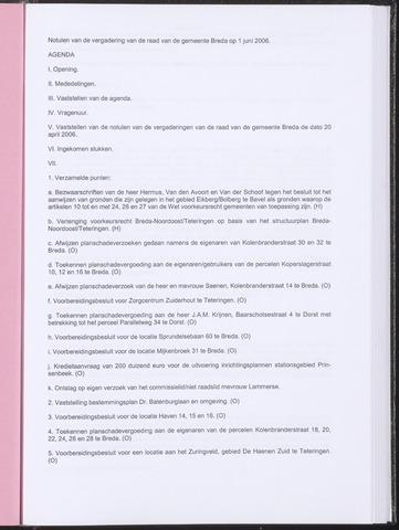 Breda - Notulen van de gemeenteraad 2006-06-01