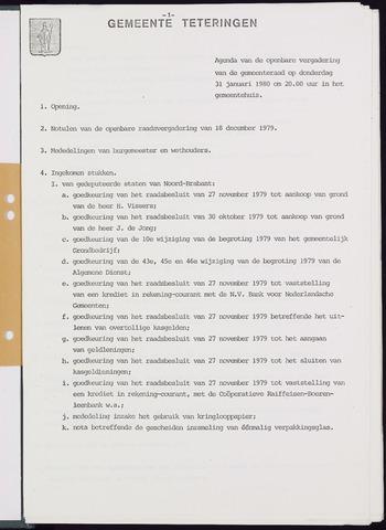 Teteringen - Notulen en bijlagen van de gemeenteraad 1980