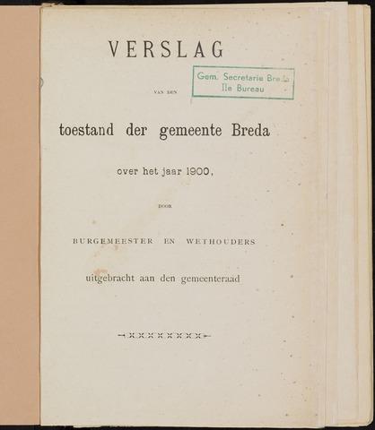 Breda - Verslagen van de toestand van de gemeente 1900