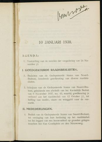 Breda - Notulen van de gemeenteraad 1938-01-01