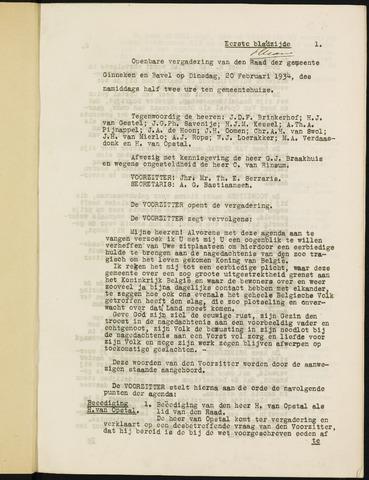 Ginneken en Bavel - Notulen van de gemeenteraad 1934-01-01