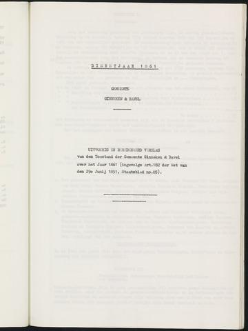 Ginneken en Bavel - Verslagen van de toestand van de gemeente 1861