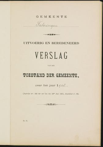 Teteringen - Verslagen van de toestand van de gemeente 1908