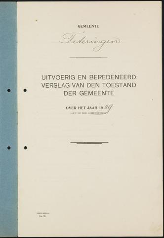Teteringen - Verslagen van de toestand van de gemeente 1929