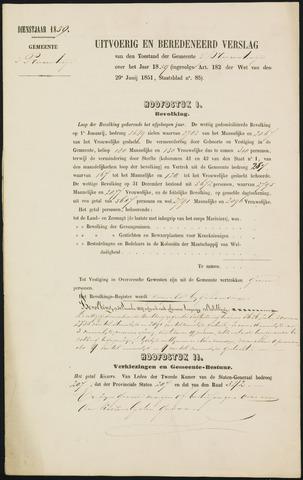 Princenhage - Verslagen van de toestand van de gemeente 1859