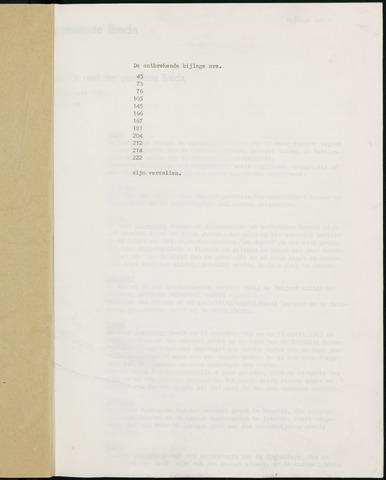 Breda - Bijlagen bij de notulen van de gemeenteraad 1968