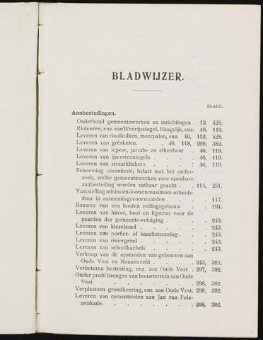 Breda - Indexen op de notulen van de gemeenteraad 1908