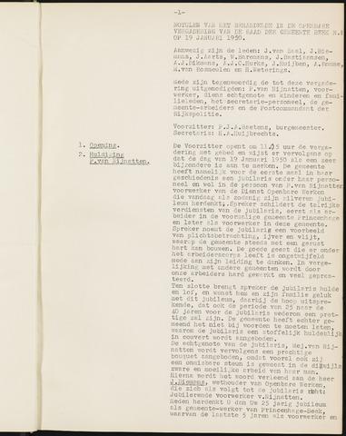 Prinsenbeek - Notulen van de gemeenteraad 1950