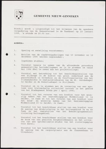Nieuw-Ginneken - Notulen en bijlagen van de gemeenteraad 1996