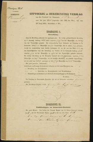 Princenhage - Verslagen van de toestand van de gemeente 1858-01-01