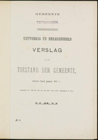 Teteringen - Verslagen van de toestand van de gemeente 1905