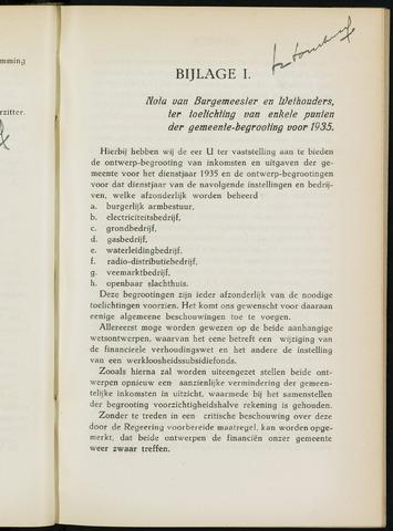 Breda - Bijlagen bij de notulen van de gemeenteraad 1935-01-01