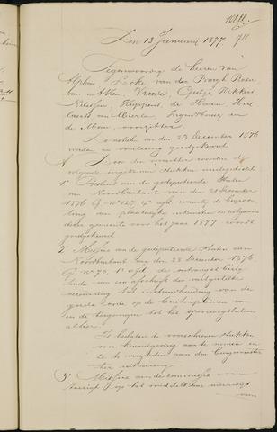 Breda - Notulen van de gemeenteraad 1877