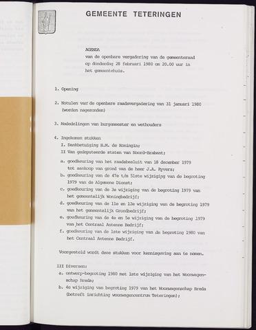 Teteringen - Notulen en bijlagen van de gemeenteraad 1980-02-28