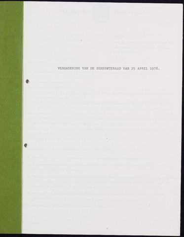 Teteringen - Notulen en bijlagen van de gemeenteraad 1978-04-25
