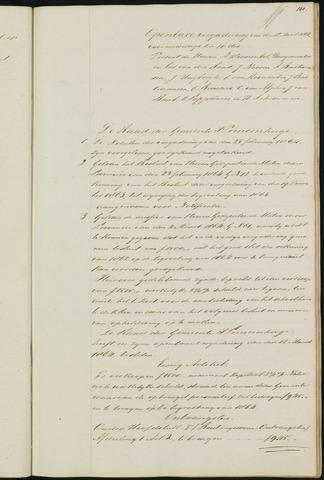 Princenhage - Notulen van de gemeenteraad 1864