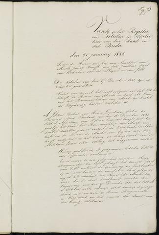 Breda - Notulen van de gemeenteraad 1832