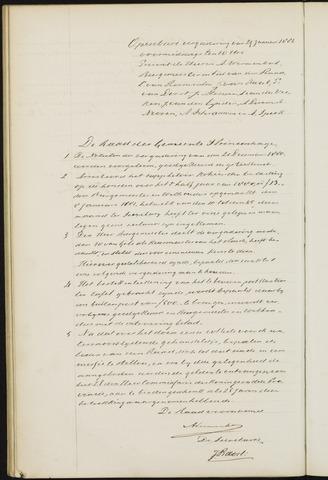 Princenhage - Notulen van de gemeenteraad 1881